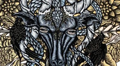 artwork of a ram